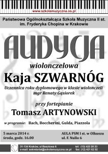 Audycja wiolonczelowa 2014